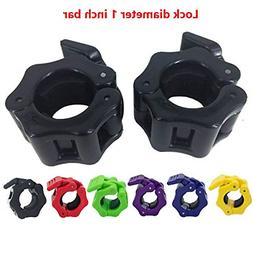 1 Inch Barbell Clamps Quick Release Pair of Locking Diameter