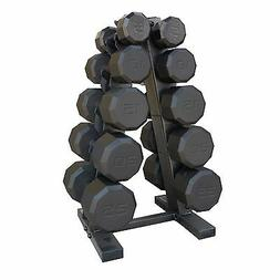 150 LB Barbell Dumbbell Weights With Stand Rack Gym Equipmen