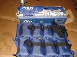 AJAY 2.5lb  2 1/2 lb each  Ankle Wrist Weights blue in box N