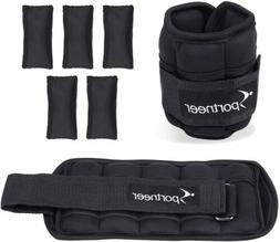 2 Pack 1-4 lbs Sportneer Ankle & Wrist Weights Set, Fully Ad
