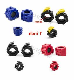 1 inch Pair Jaw Barbell Collar Muscle Clamps Bar Weight lift