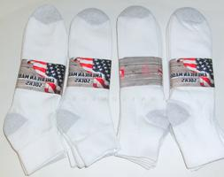 6 Pairs BIG Mens Size Cushioned Ankle Socks Medium Weight  U