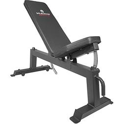 Titan Fitness Adjustable Flat Incline Weight Bench for Free