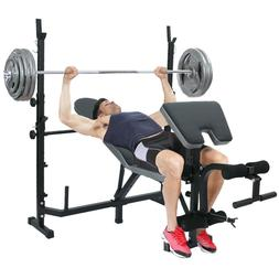 Adjustable Olympic Workout Weight Lifting Bench w/ Rack Incl
