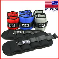Adjustable Straps Ankle Wrist Weights Fitness Exercise Train