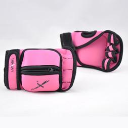 MaxxMMA Adjustable Weighted Gloves - Removable Weight 1 lb.
