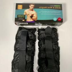 FITNESS BASICS ANKLE AND WRIST WEIGHTS 5 LB SET adjustable v