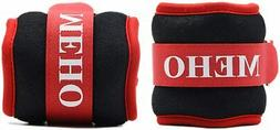 MEHO Ankle Weights Set of 2 Red .5lb 1/2lb B5