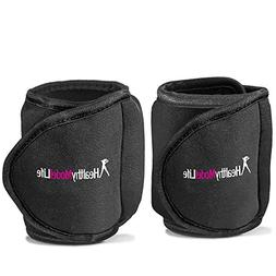 Ankle Weights Set by Healthy Model Life  - 10lb in total - T