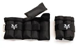 Valeo Adjustable Ankle/Wrist Weights - 10 lbs Total  With Ad