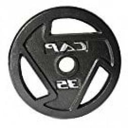 CAP Barbell Single Black Olympic Weight Grip Plate For Exerc