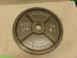 """CAP Barbell 45 lb Gray Olympic Weight Plate 2"""" Hole , Single"""