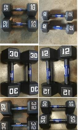 Cast Iron Dumbbell SETS - Weights: 10 15 20 25 30 35 LB - Pa