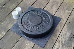Cast Your Own Weights! 25 lbs Olympic Concrete Weight Mold.