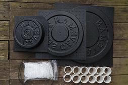Cast Your Own Weights! 3 Mold Kit: 45, 25 and 10 / 5 lbs Mol