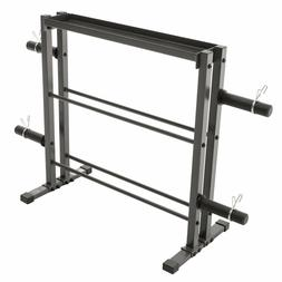 Marcy Combo Weights Storage Rack for Dumbbells, Kettlebells,