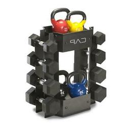 Dumbbell And Kettle Bell Rack Storage Holder Weight Lifting