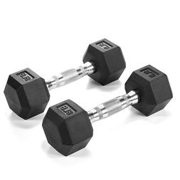 Dumbbells Rubber Coated Hex Dumbbell Free Weights Dumbbells