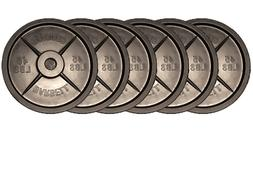 Fake Weights – All Black 45lb Barbell Plates 3 Pairs