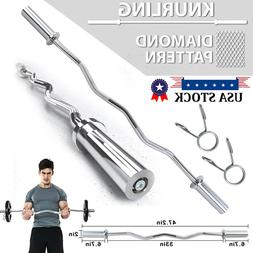 7 ft Chrome Olympic Barbell Bar Weightlifting Bar Strength T