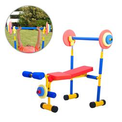 Fun and Fitness Exercise Equipment for Kids Weight Bench Set