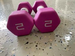 🔥 CAP Hex Neoprene 5 lb Pound Set of 2 Dumbbell Weights *