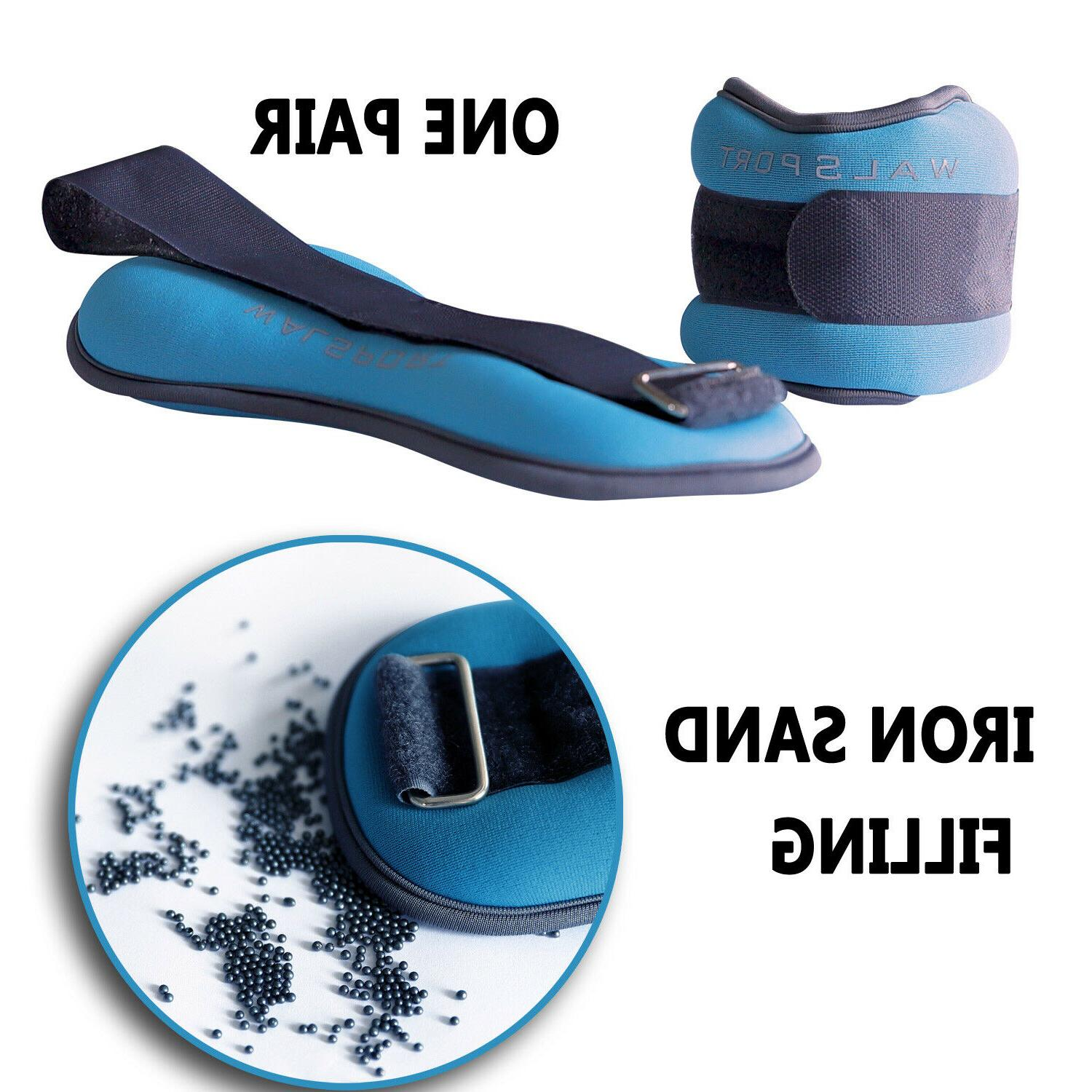 1 pair adjustable ankle wrist weights