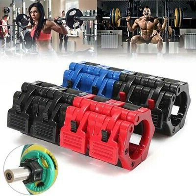 "1-2"" Olympic Lock Barbell Clamp Spinlock Collars Cross Train"