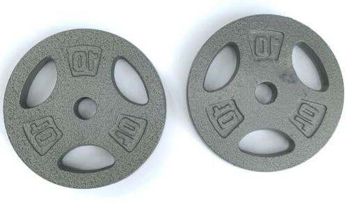 10lb barbell dumbbell 1 weight plates 2x10
