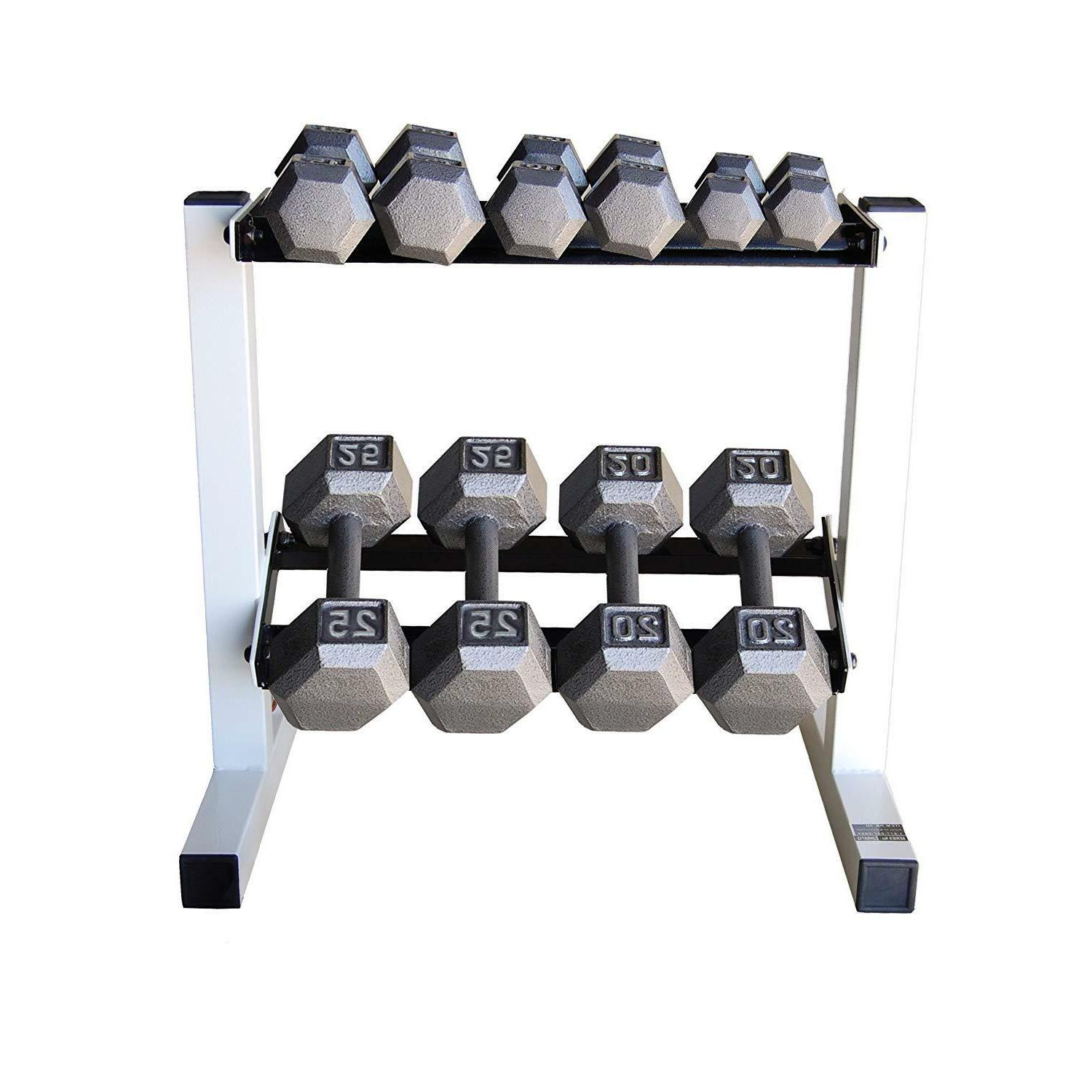 150 LB Weight Dumbbell Set With Rack Stand Gym Exercise Musc