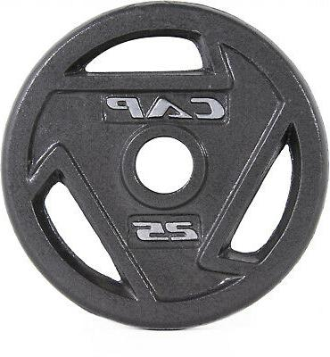 CAP 2 Olympic Grip Plate Iron Weights lbs, Single Piece