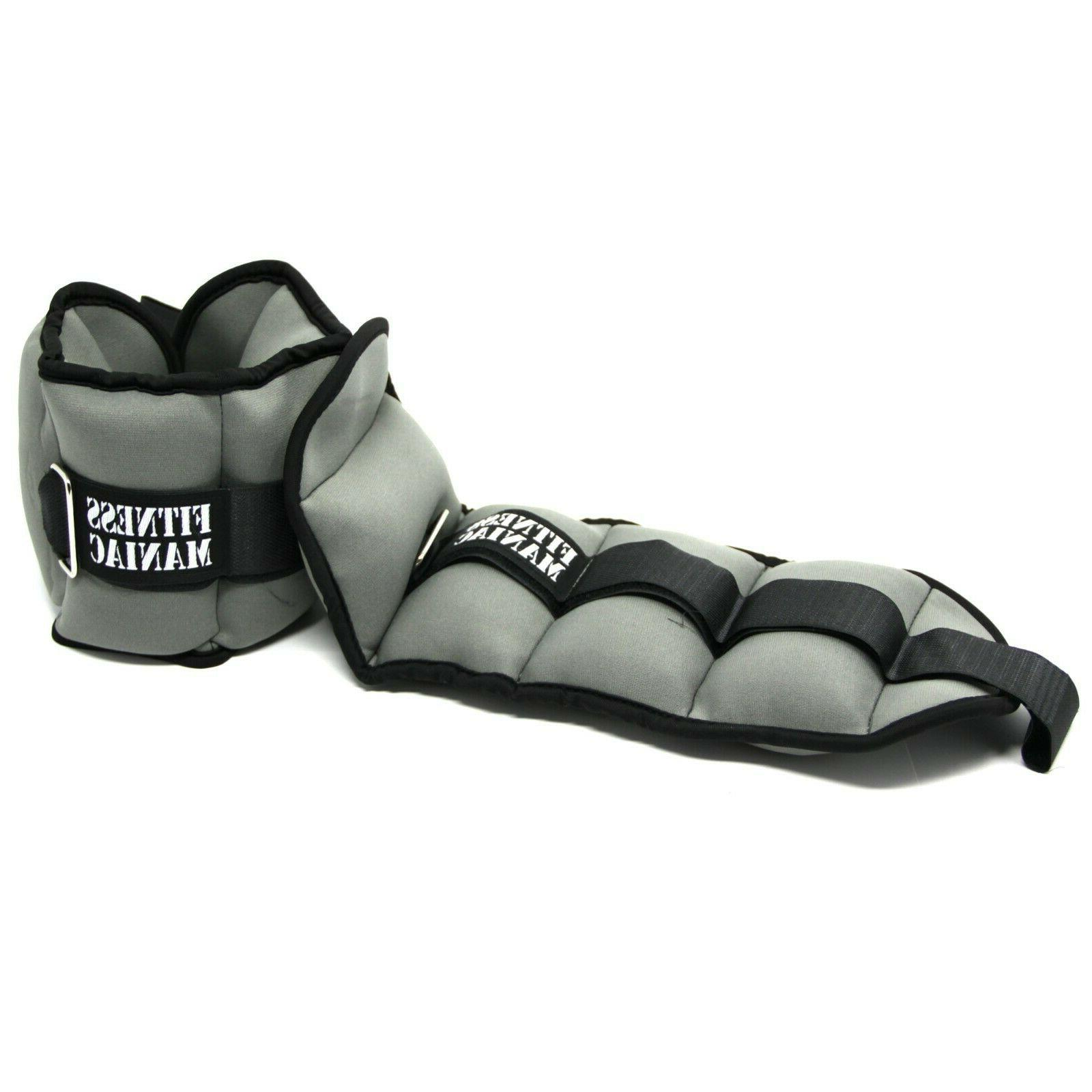 Adjustable Ankle Weights Fitness 4 8 lbs