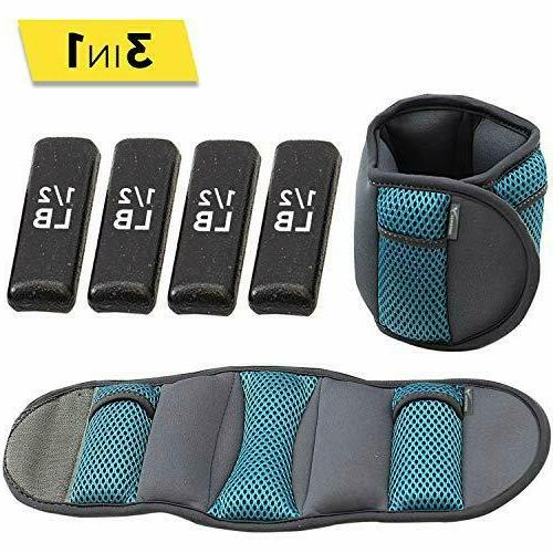 Empower Ankle & Wrist Weights for Women, Soft, Adjustable As