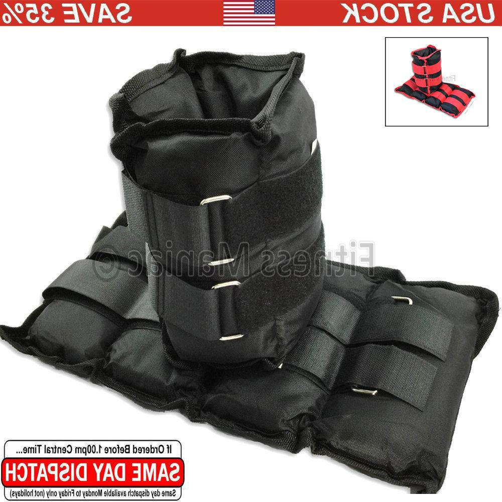 Ankle Weights Pair Strap 2 lb. lbs lb 12lb 20