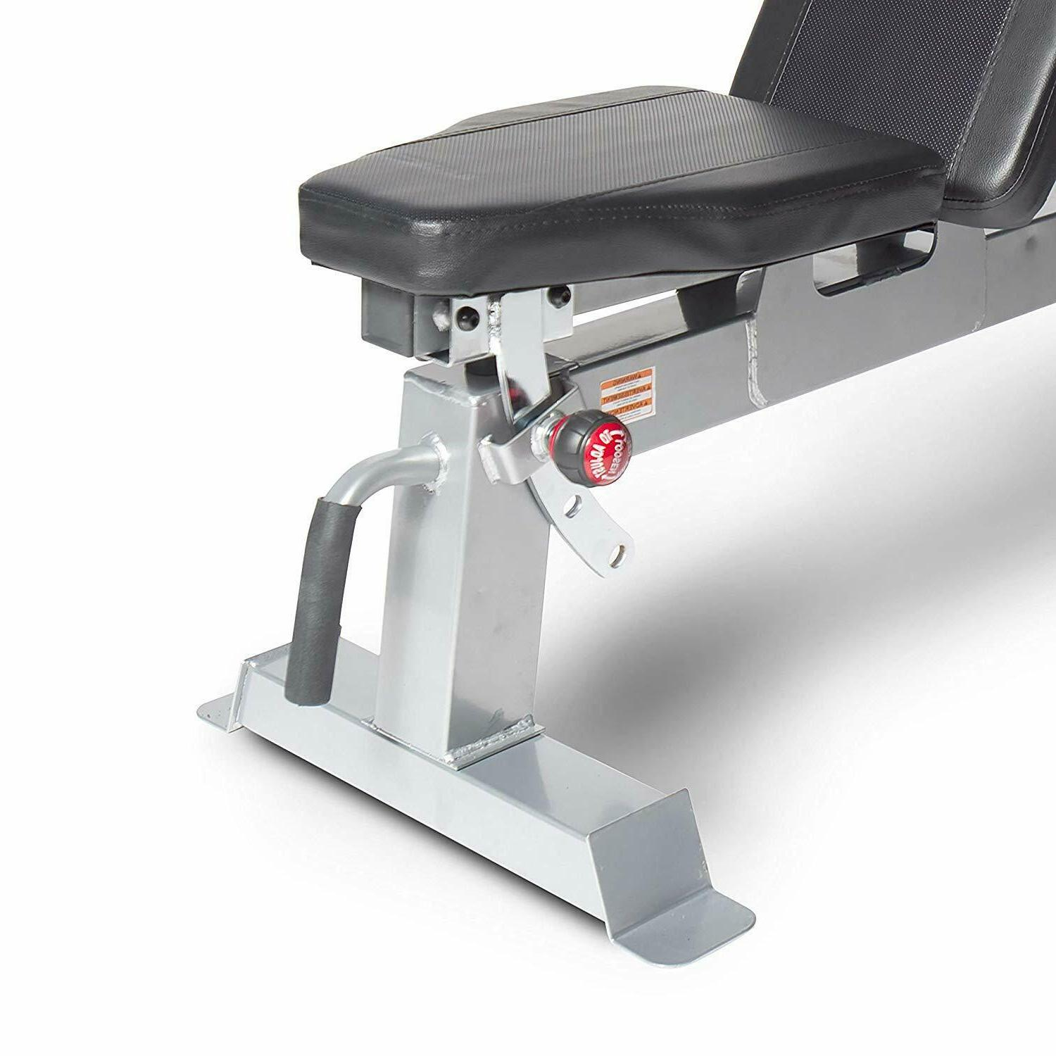 CAP Barbell Deluxe Full Size Adjustable Utility Bench Home Fitness