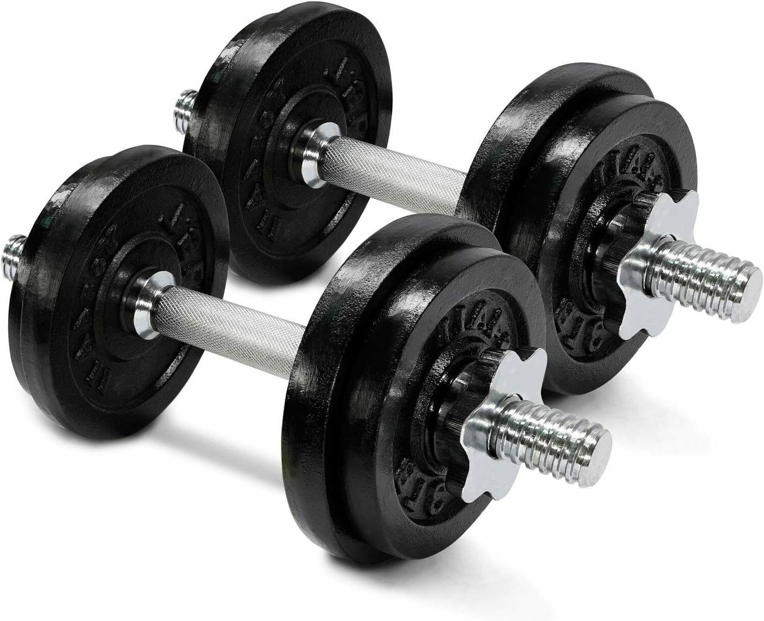 brand new 40lb adjustable dumbbell weight set