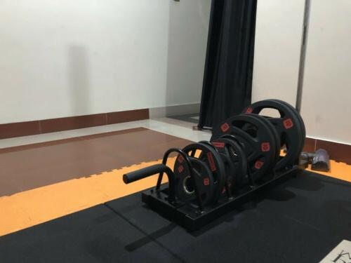 Horizontal Weight Barbell Rack Olympic Bumper │ Plate