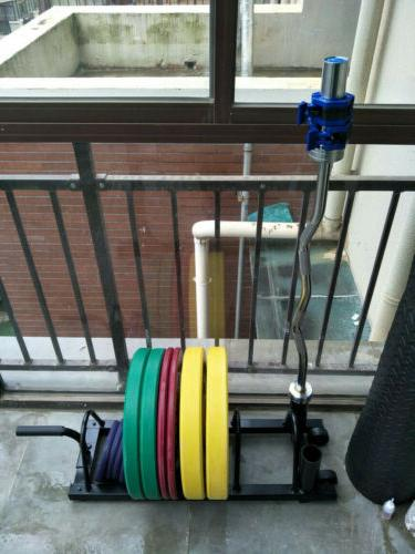 Horizontal Barbell Rack Olympic │ Weight Plate Storage