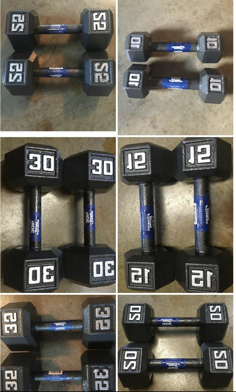 cast iron dumbbell sets weights 10 15