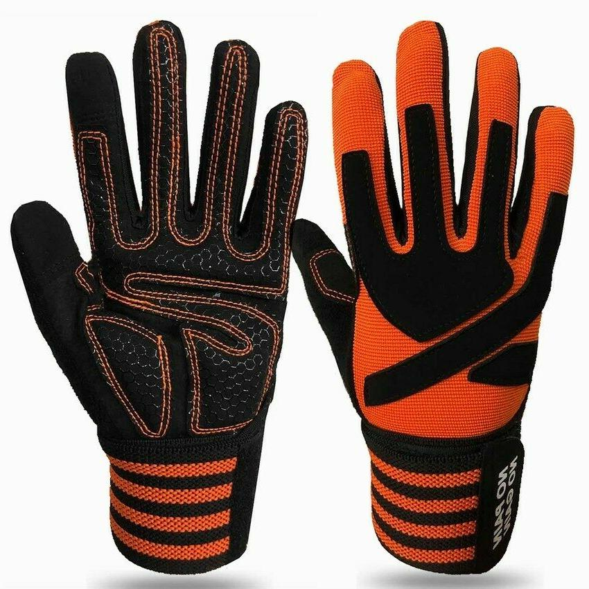 Gym Gloves With Wrist Support Wrap Workout Weight Lifting Fi