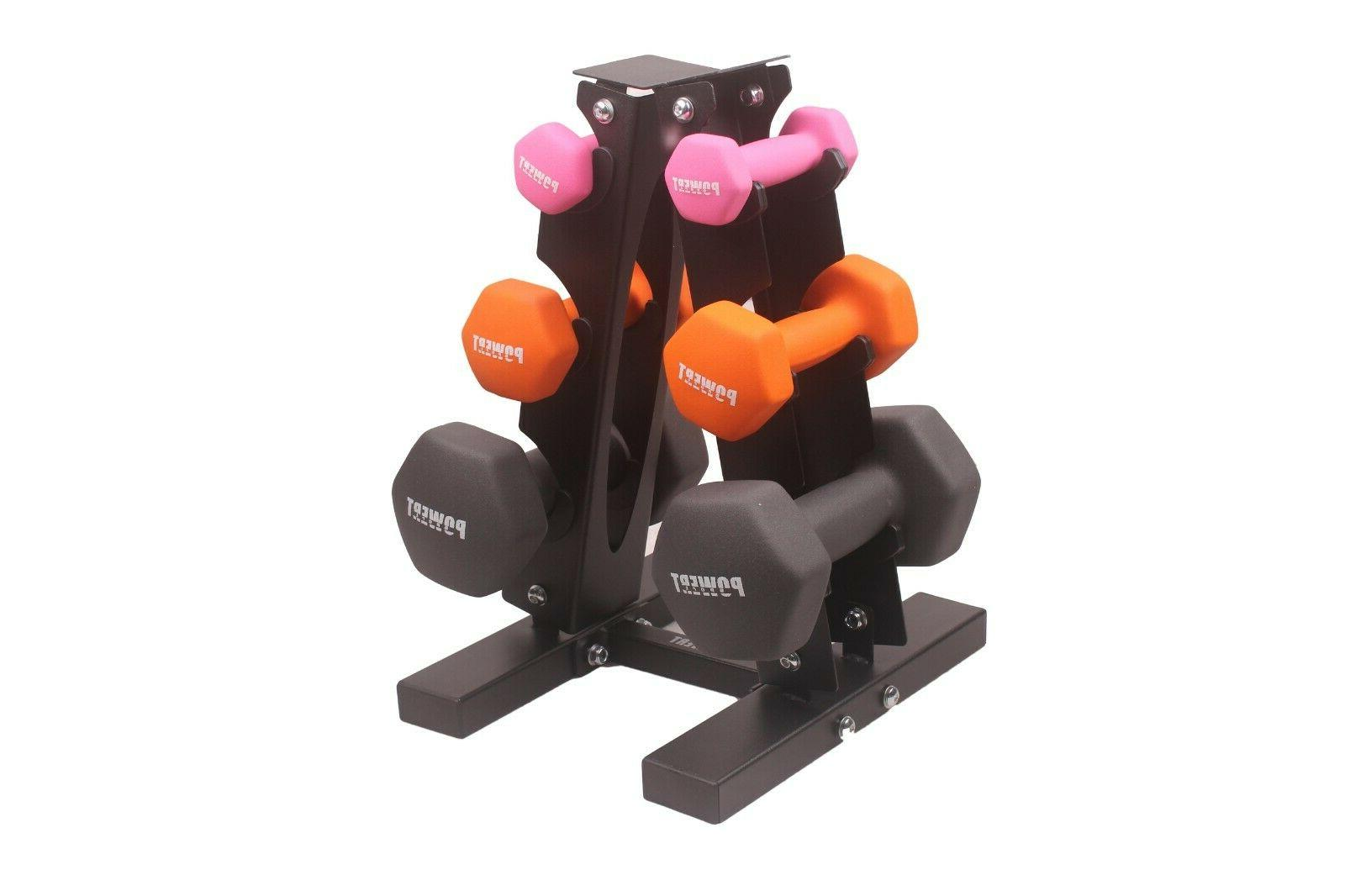 POWERT HEX Coated Colorful Weight Lifting Training--One Pair