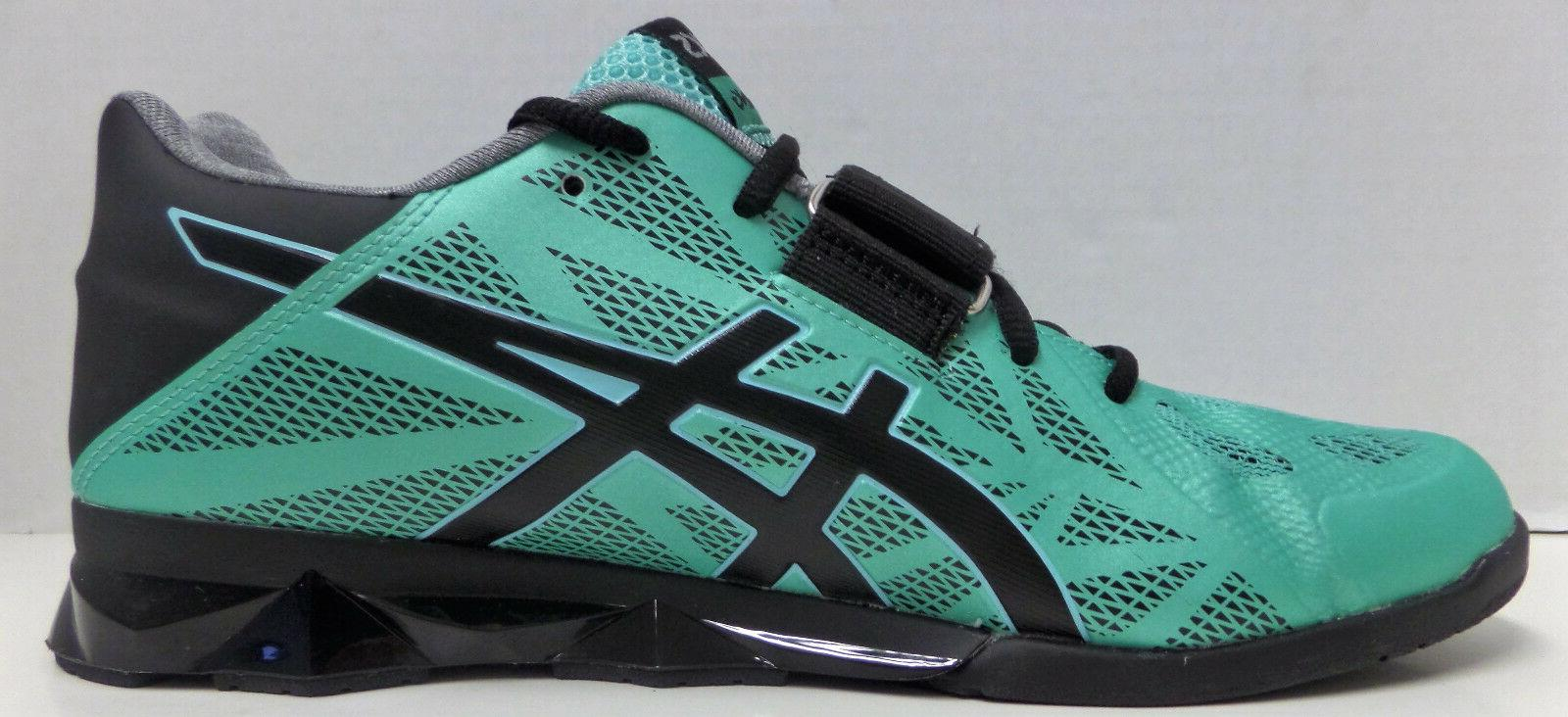 Asics Lift Weight Lifting Shoes Teal/Black/Silver