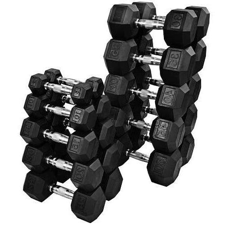 new rubber hex dumbbells select weight 10