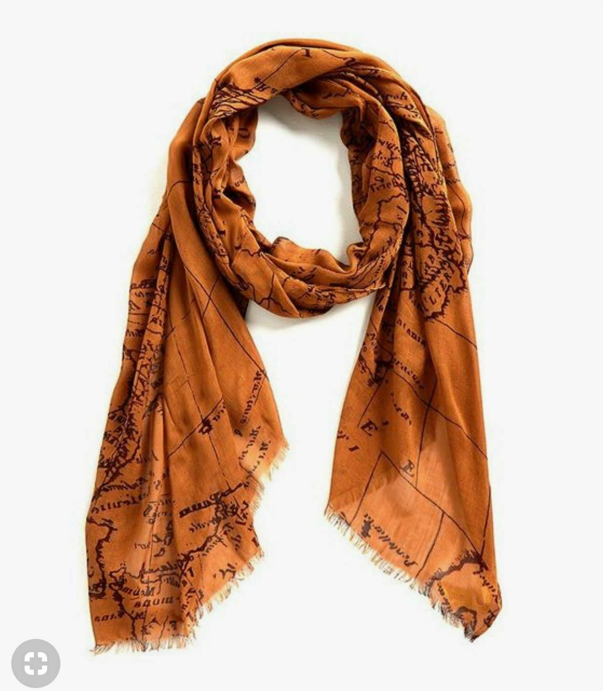 nwt scarf light weight signature map all