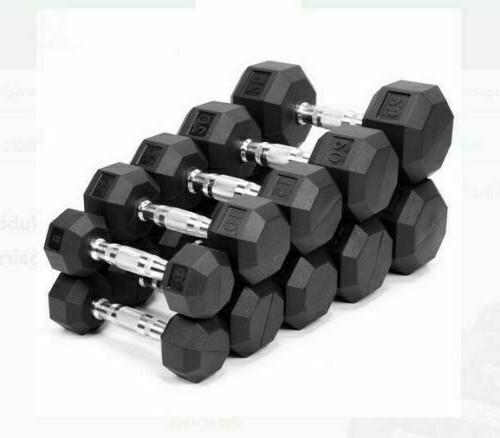 rubber hex dumbbells weights you choose 1015