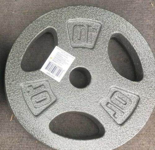 standard grip barbell dumbbell weights plates 10