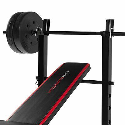 CAP Bench With 100 Lb Weight Set