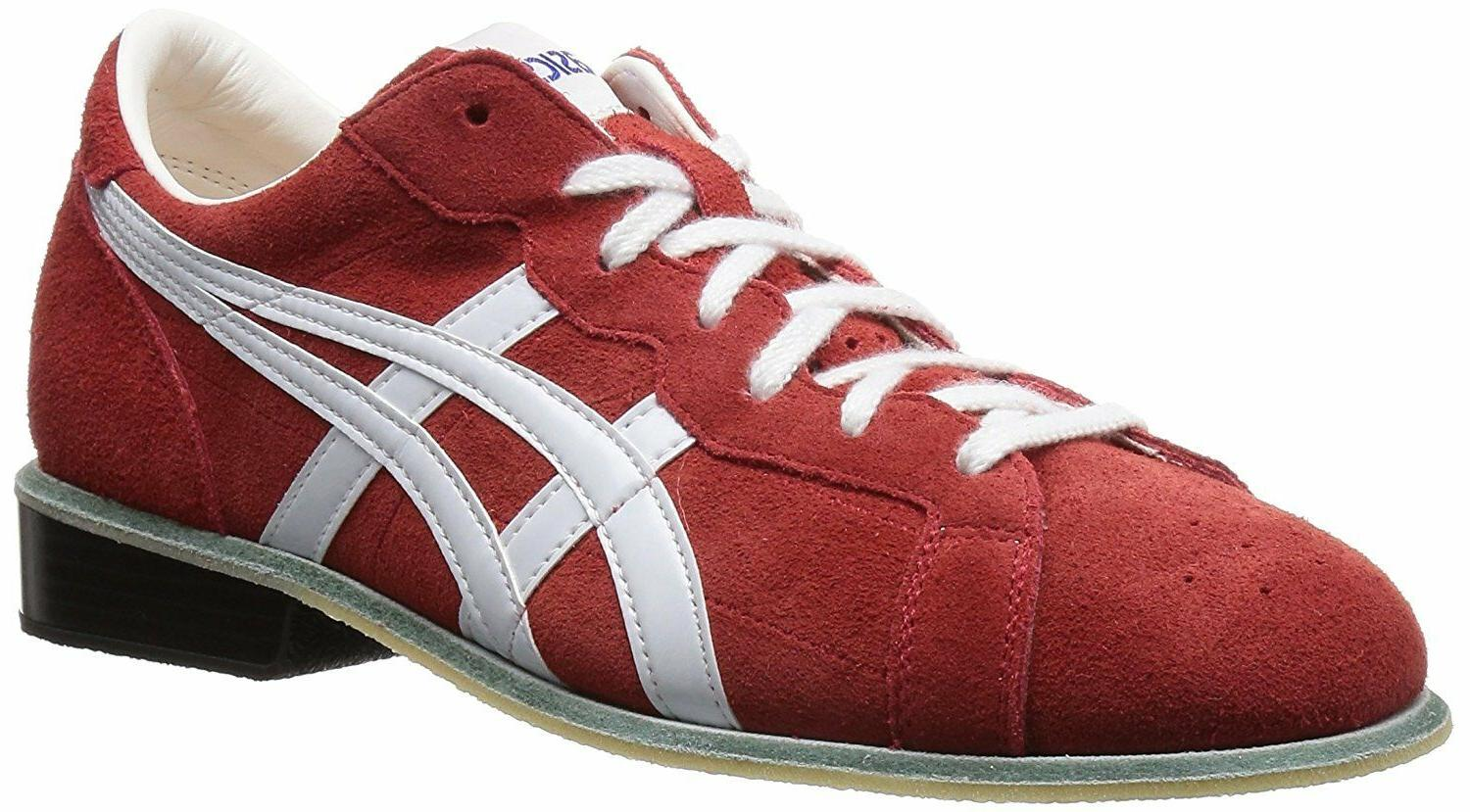 weight lifting shoes 727 red white leather