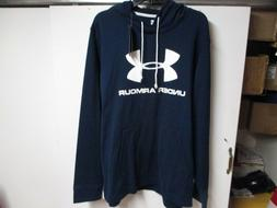 """UNDER ARMOUR """"LOOSE"""" HOODED SWEATSHIRT  NWT $55 NAVY W/WHITE"""