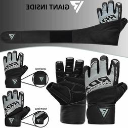 RDX Weight Lifting Gloves Gym Strength Training Fitness Work